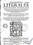 Pensamientos literales y morales, sobre los evangelios de las dominicas despues de Pentecostes...