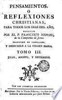 Pensamientos o Reflexiones christianas para todos los días de el año, 3