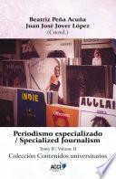 Periodismo especializado tomo II