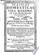Platicas domesticas para religiosos en las principales festiuidades del año