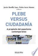 Plebe versus ciudadanía