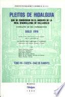 Pleitos de hidalguía que se conservan en el Archivo de la Real Chancillería de Valladolid: Cuesta-Diaz de Zumento