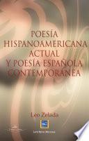Poesía hispanomerica actual y poesía española contemporanea