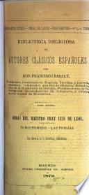 Poesías del Maestro Fray Luis de Leon