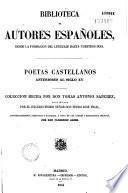 Poetas castellanos anteriores al siglo XV