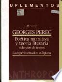 Poética narrativa y teoría literaria (selección de textos)