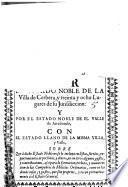 Por el estado noble de la Villa de Cerbera, y treinta y ocho lugares de su jurisdiccion