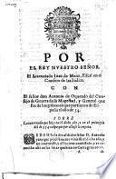 Por el Rey ... J. de Mena. Fiscal en el Consejo de las Indias, con ... A. de Oquendo, ... General que fue de los galeones que partieron de España el año de [16]34. Sobre la invernada que hizo en el dicho año, etc