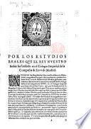 Por los estudios reales que el Rey ... ha fundado en el Colegio Imperial de la Compañia de Jesus de Madrid. [A memorial drawn up by the Jesuits, stating the objects of the foundation.]