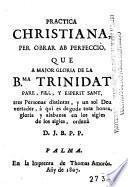 Practica christiana per obrar ab perfecció
