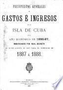 Presupuesto general de ingresos y gastos del estado en la isla de Cuba