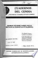 Primer informe sobre piezas metálicas indígenas en Barrera