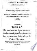 Primer rejistro autentico nacional de la republica del Ecuador: 1835-1839