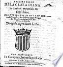 Primera parte de la Clara Diana a lo divino, repartida en sieto libros