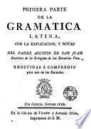 Primera parte de la gramatica latina