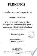 Principios de Aritmética cientifico-practica