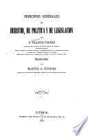Principios generales de derecho, de política y de legislación