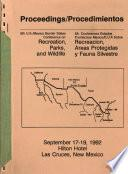 Proceedings, 5th U.S./Mexico Border States Conference on Recreation, Parks, and Wildlife