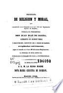 Programa de religion y moral, que cumpliendo con lo dispuesto en el art. 154 del Reglamento de Estudios