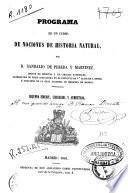 Programa razonado de un curso de nociones de historia natural