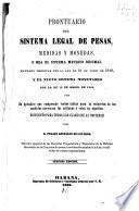 Prontuario del sistema legal de pesas, medidas y monedas