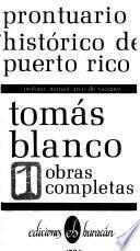 Prontuario histórico de Puerto Rico