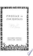 Prosas de Juan Montalvo