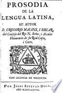 Prosodia de la lengua latina