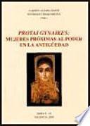 Protai Gynaikes: mujeres próximas al poder en la antigüedad