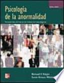 PSICOLOGÍA DE LA ANORMALIDAD