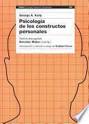 Psicologia de los constructos personales/ Psychology of Personal Constructs