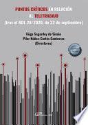 Puntos críticos en relación al teletrabajo (tras el RDL 28/2020, de 22 de septiembre).
