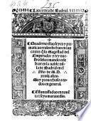 Quaderno de las leyes y prematicas reales ... de Madrid en el ano de MDXXVIII
