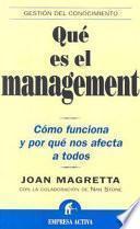 Qué es el management