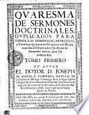 QVARESMA DE SERMONES DOCTRINALES