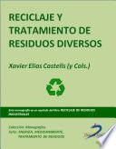Reciclaje y tratamiento de residuos diversos