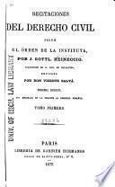 Recitaciones del derecho civil segun el órden de la Instituta