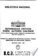 Referencias criticas sobre autores chilenos