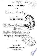 Refutacion a la doctrina piretológica de Mr. Broussais