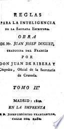 Reglas para la Inteligencia de la Sagrada Escritura Obra ... Traducida ... por Don Juan de Ribera y Céspedes
