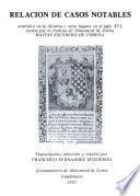 Relación de casos notables ocurridos en la Alcarria y otros lugares en el siglo XVI