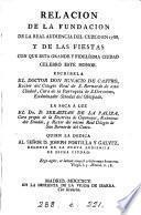 Relacion de la fundacion de la Real audiencia del Cuzco en 1788, la saca a luz S. de la Paliza