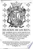 Relacion de los reos que salieron en el Auto particular de Fè, que el Santo Oficio de la Inquisicion de Cuenca celebrò ... el Domingo veinte y tres de Noviembre de 1721