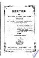 Repertorio de manifestaciones dirigidas en favor del proyecto y de la ley de abolición de derechos funerarios