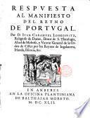 Respuesta al manifiesto del reino de Portugal