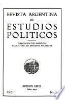 Revista argentina de estudios políticos