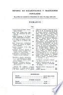 Revista de dialectología y tradiciones populares