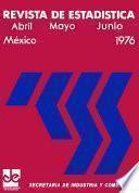Revista de estadística 1976. Abril, Mayo y Junio. Volumen XXIX, núm 4, 5 y 6