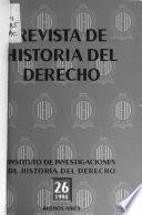 Revista de historia del derecho