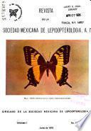 Revista de la Sociedad Mexicana de Lepidopterología